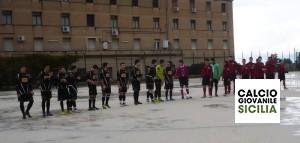 Juvenilia - Fincantieri, il saluto delle squadre.-