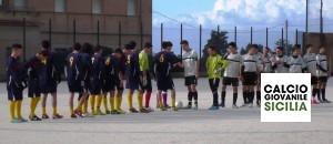 Juvenilia vs Delfini V. Maria.  Il saluto delle squadre...